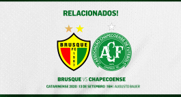 Relacionados para Brusque e Chapecoense | Final do Catarinense 2020